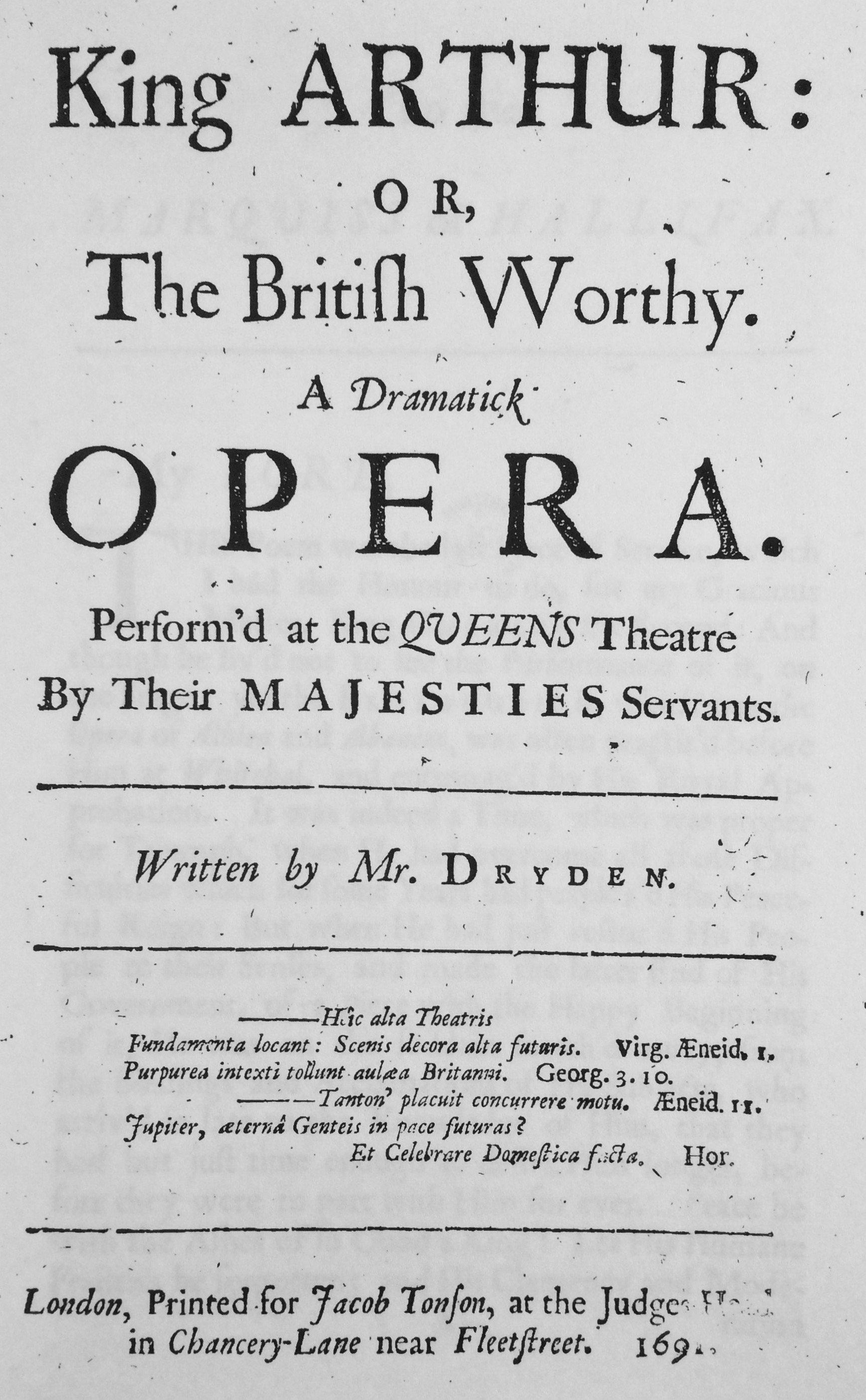 The 17th-Century Game of Thrones: John Dryden\'s King Arthur (1691 ...